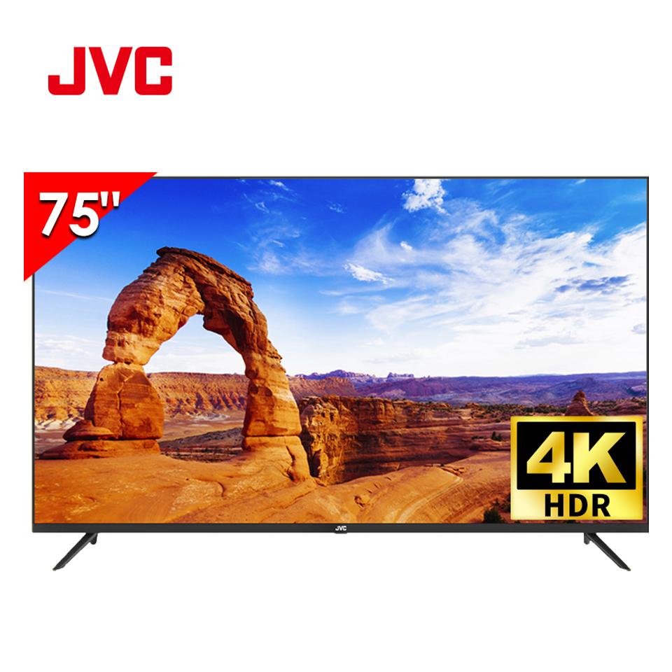 JVC 75型 4K HDR 窄邊框液晶顯示器