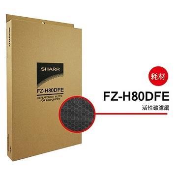 SHARP FP-J80/60/FU-H80活性碳過濾網