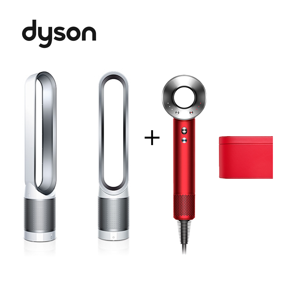 (1+1合購組)Dyson Supersonic吹風機(全瑰麗紅盒裝版)+空氣清淨氣流倍增器TP00