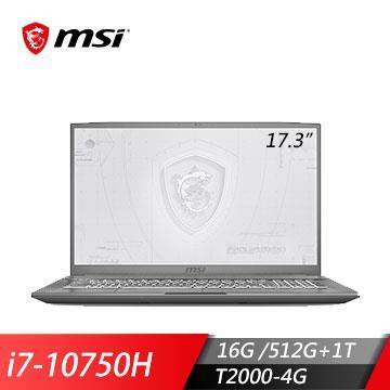 msi微星 WF75 10TJ-484TW 繪圖筆電(i7-10750H/16GD4/T2000/512G+1T/W10P)