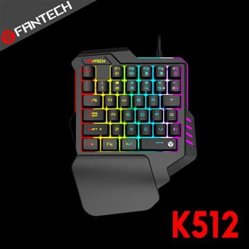 FANTECH K512 混光多彩燈效單手電競鍵盤