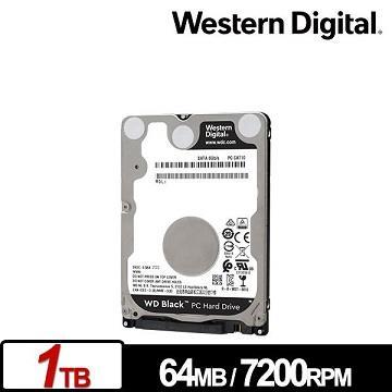 WD威騰 2.5吋 1TB 內接硬碟 黑標7mm