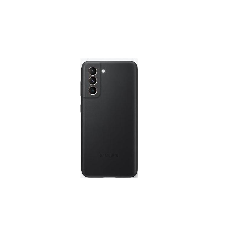 SAMSUNG Galaxy S21 原廠皮革背蓋 黑
