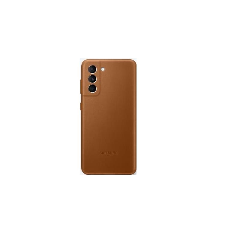 SAMSUNG Galaxy S21 原廠皮革背蓋 棕