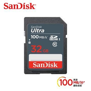SanDisk晟碟 Ultra SD 32G C10記憶卡100Mb/s