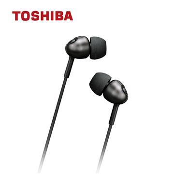 TOSHIBA東芝 金屬低音強化耳機-黑
