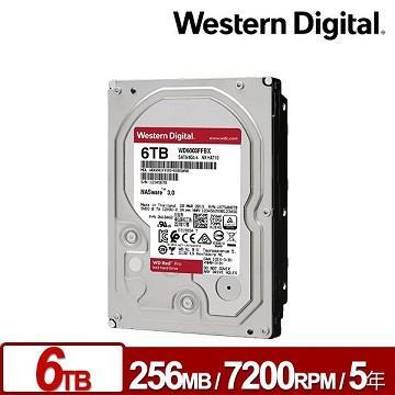 WD威騰 3.5吋 6TB 內接硬碟 旗艦紅標
