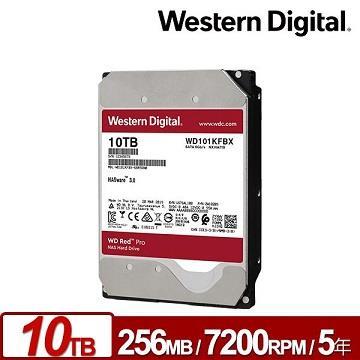 WD威騰 3.5吋 10TB 內接硬碟 旗艦紅標