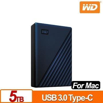 WD威騰 My Passport for Mac 2.5吋 5TB 行動硬碟 WDBA2F0050BBL-WESN