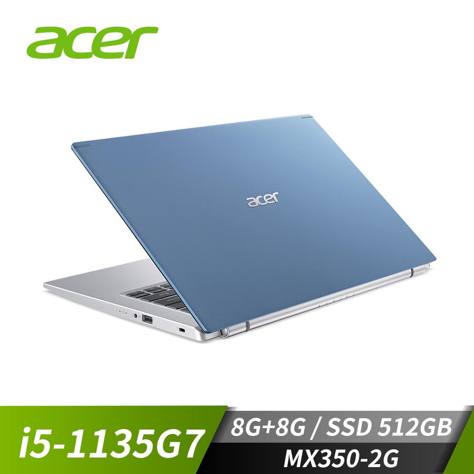 宏碁ACER Aspire 5 筆記型電腦(i5-1135G7/8G/512G/MX350/W10) A514-54G-580X+8G