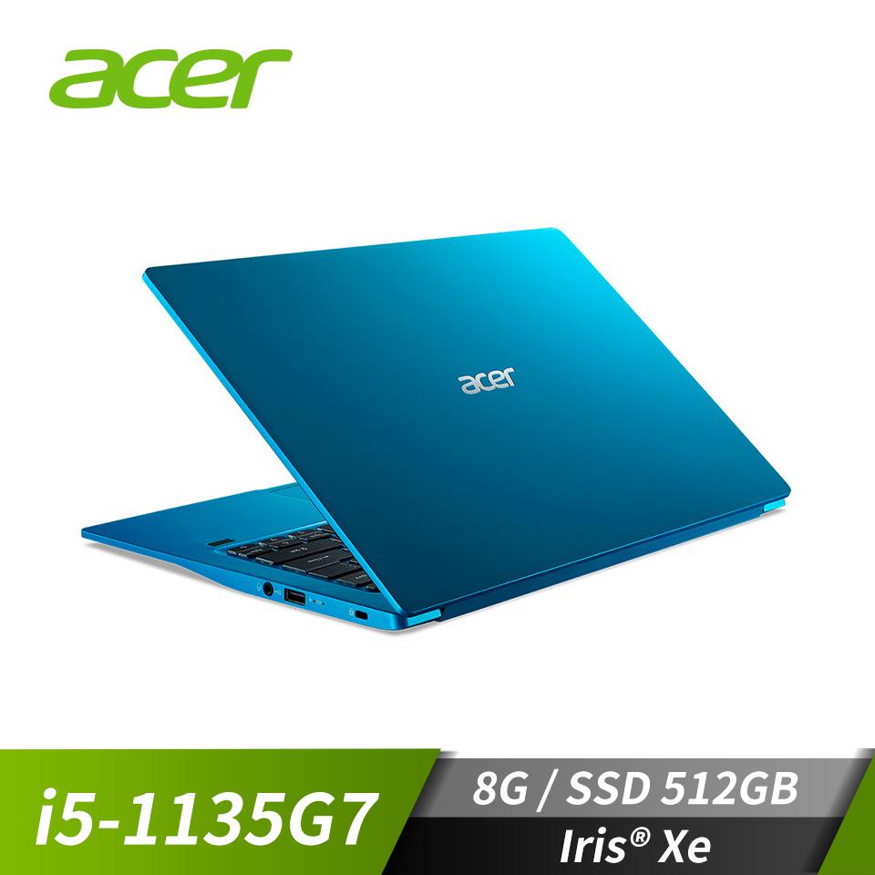 """宏碁ACER Swift 3 筆記型電腦 天青藍 14""""(i5-1135G7/8G/512G/W10)"""