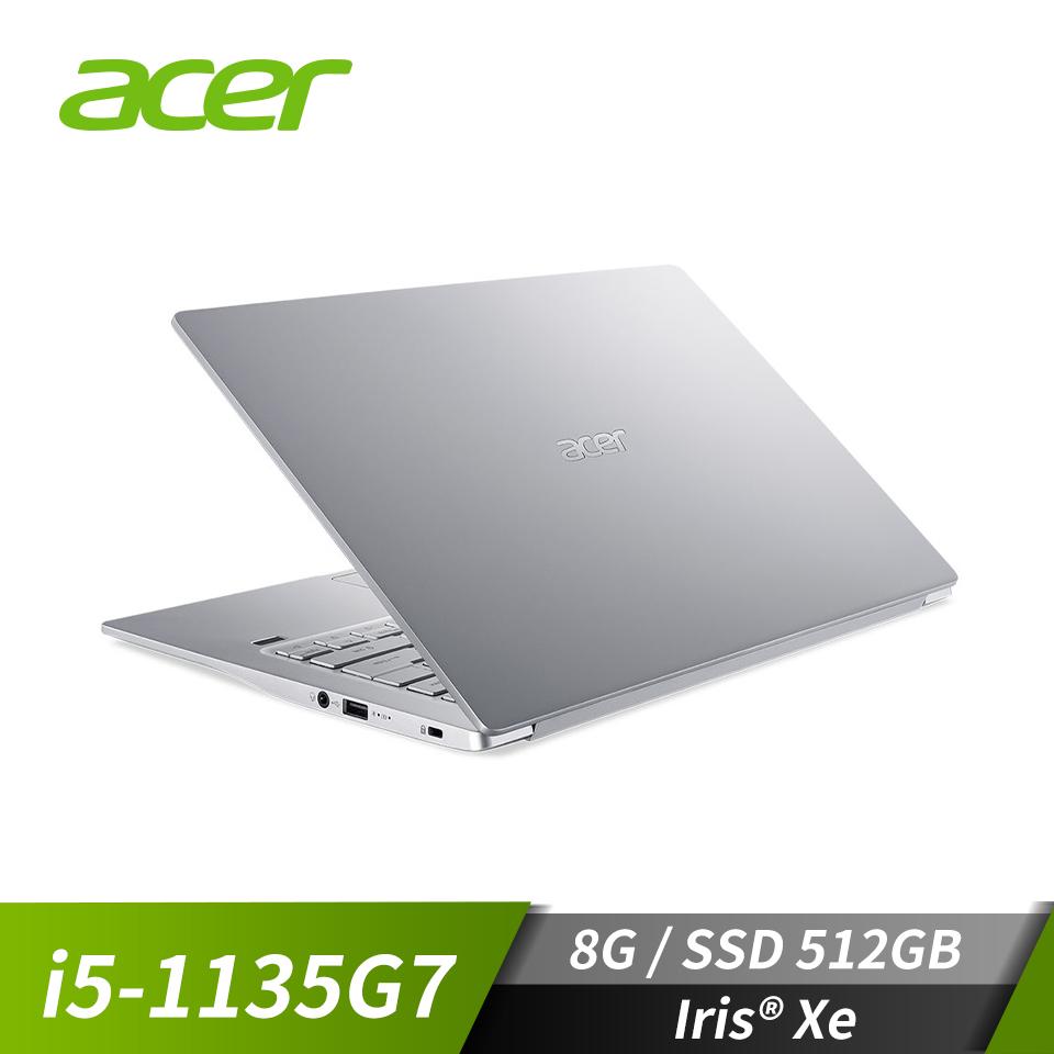 宏碁ACER Swift 3 筆記型電腦 閃亮銀(i5-1135G7/8G/512G/W10)