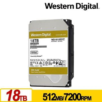 WD威騰 3.5吋 18TB 內接企業級硬碟 金標