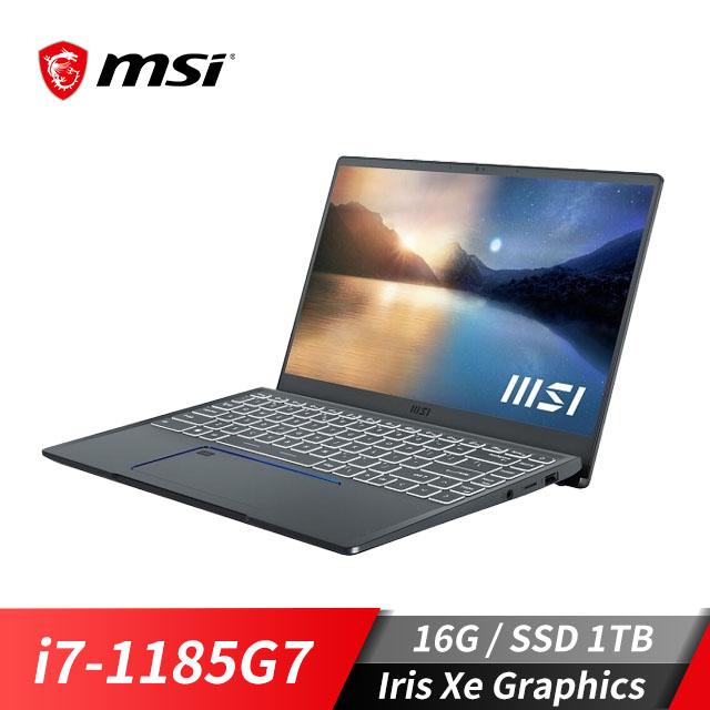 微星MSI Prestige 14筆記型電腦(i7-1185G7/Iris Xe/16GB/1TB SSD/EVO認證) Prestige 14Evo A11M-271