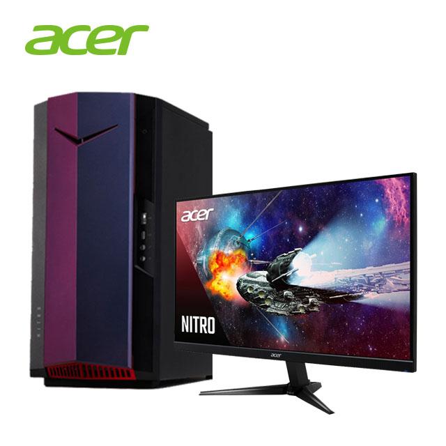 (組合)ACER 十代i7 電競主機 + 27型 VA 液晶螢幕