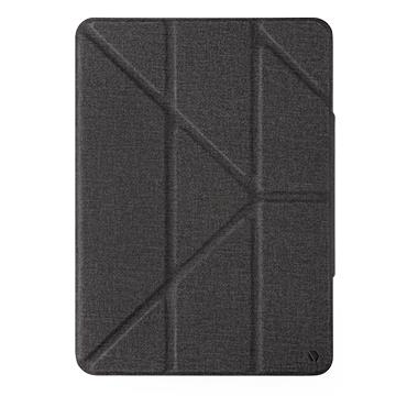 JTLEGEND iPad Air 10.9吋折疊磁扣皮套-黑