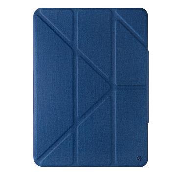 JTLEGEND iPad Air 10.9吋折疊磁扣皮套-藍