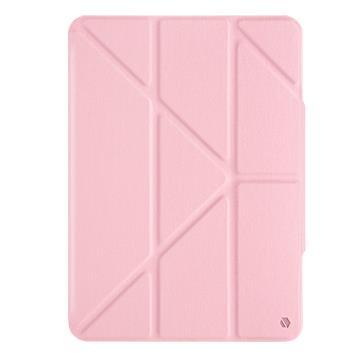 JTLEGEND iPad Air 10.9吋折疊磁扣皮套-粉 AR10.9折紋磁扣粉