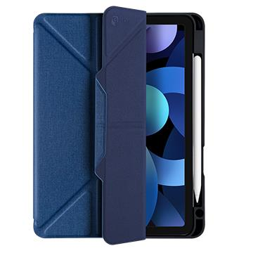JTLEGEND iPad Air 10.9吋筆槽磁扣皮套-藍