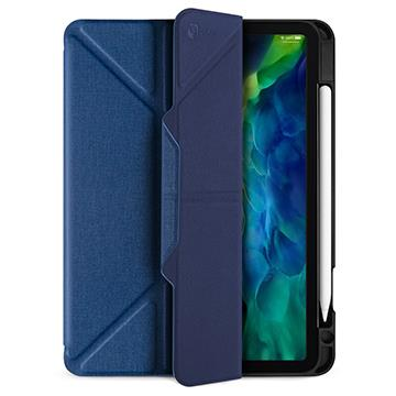 JTLEGEND iPad 11吋筆槽磁扣皮套-藍