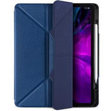 JTLEGEND iPad 12.9吋筆槽磁扣皮套-藍