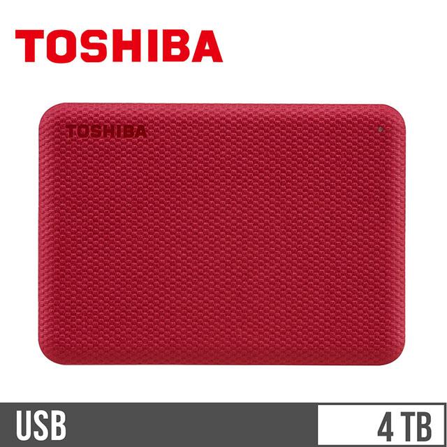 東芝TOSHIBA V10 2.5吋 4TB行動硬碟 紅