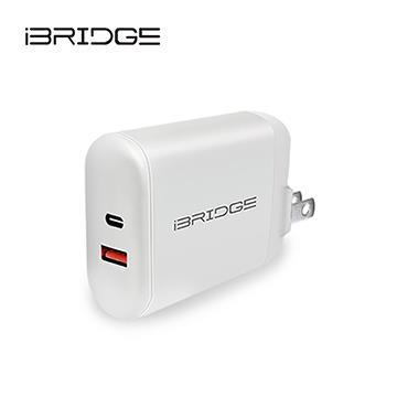 iBRIDGE PD3.0 30W 雙孔急速快充充電器 IBC005