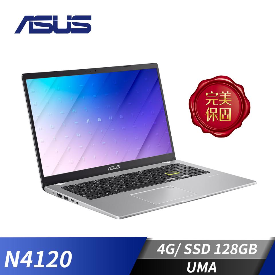 華碩ASUS Laptop E510MA 筆記型電腦-夢幻白(N4120/4G/128G/W10)