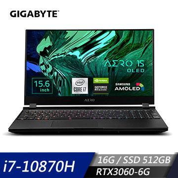 GIGABYTE技嘉 AERO 15 OLED KC 創作者筆電(i7-10870H/16G/512G/RTX3060/W10P)