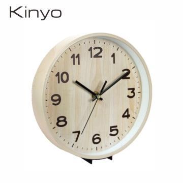 KINYO 木紋風桌掛兩用鐘
