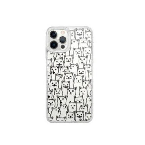MOOTUN iPhone 12 Pro Max保護殼(線條貓)