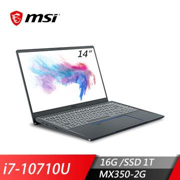 msi微星Prestige14 A10RBS-251TW創作者筆電(i7-10710U/16G/MX350/1T/W10) Prestige 14 A10RBS-251TW