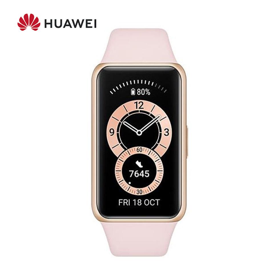 華為HUAWEI Band 6 智慧手環 (櫻語粉) ☆可偵測心率血氧