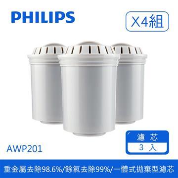 飛利浦超濾四重過濾濾芯(12入)