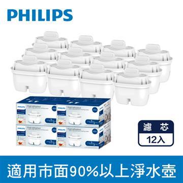 飛利浦超濾濾水壺濾芯(12入)-通用版