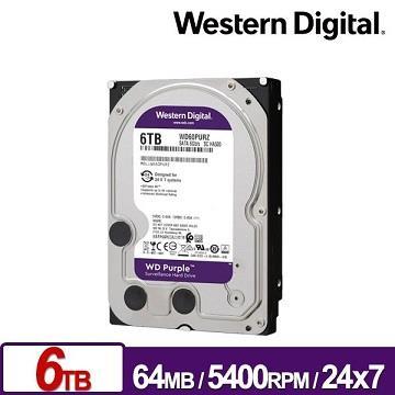 WD威騰 3.5吋 6TB 監控系統硬碟(紫標)