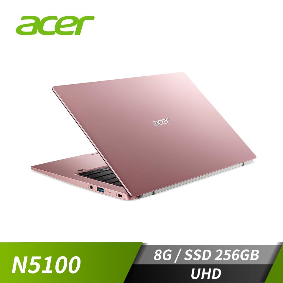 """宏碁 ACER Swift 1 筆記型電腦 14"""" (N5100/8GB/UHD/256GB/W10)粉"""
