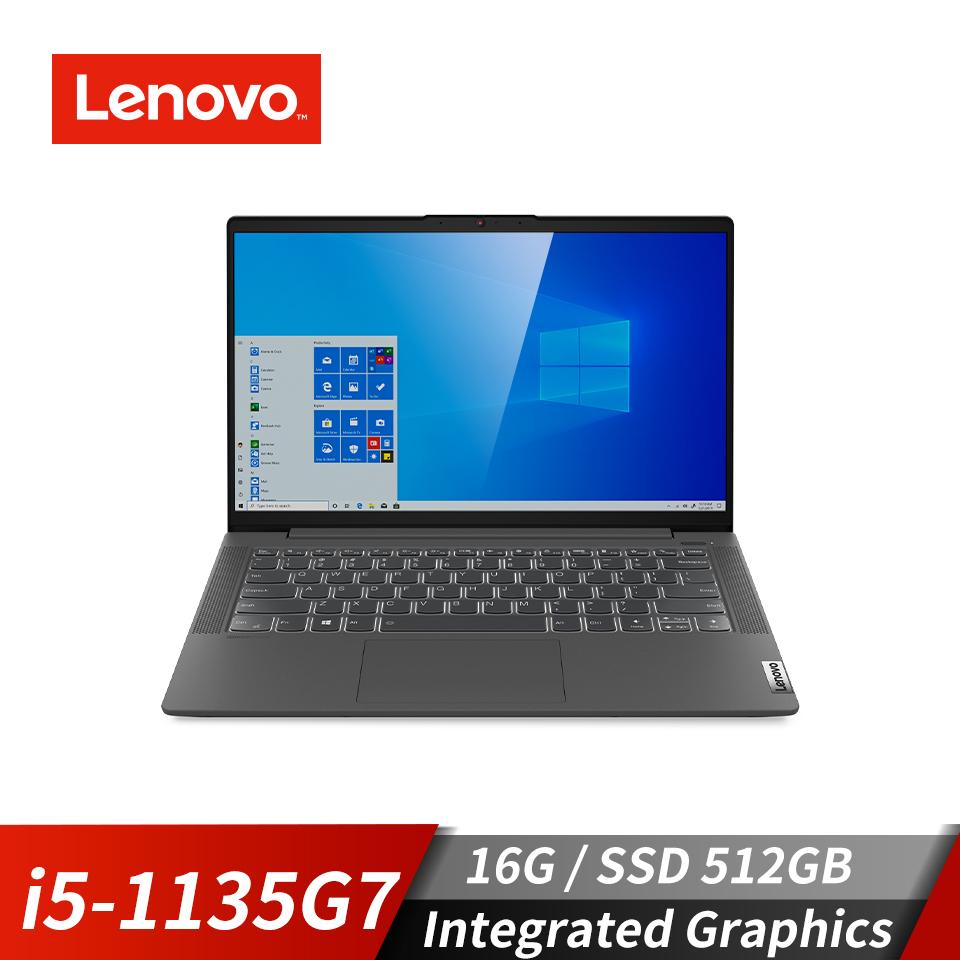聯想 Lenovo IdeaPad Slim 5i筆記型電腦 14吋 (i5-1135G7/16GB/512GB/Integrated Graphics/Win10)曜石灰