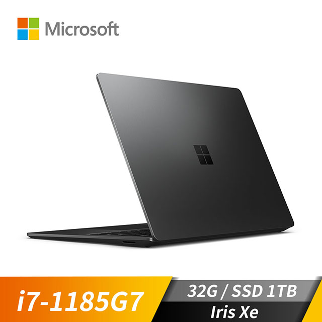 微軟Microsoft Surface Laptop4 霧黑色(i7-1185G7/Iris Xe/32GB/1TB SSD/13.5吋)