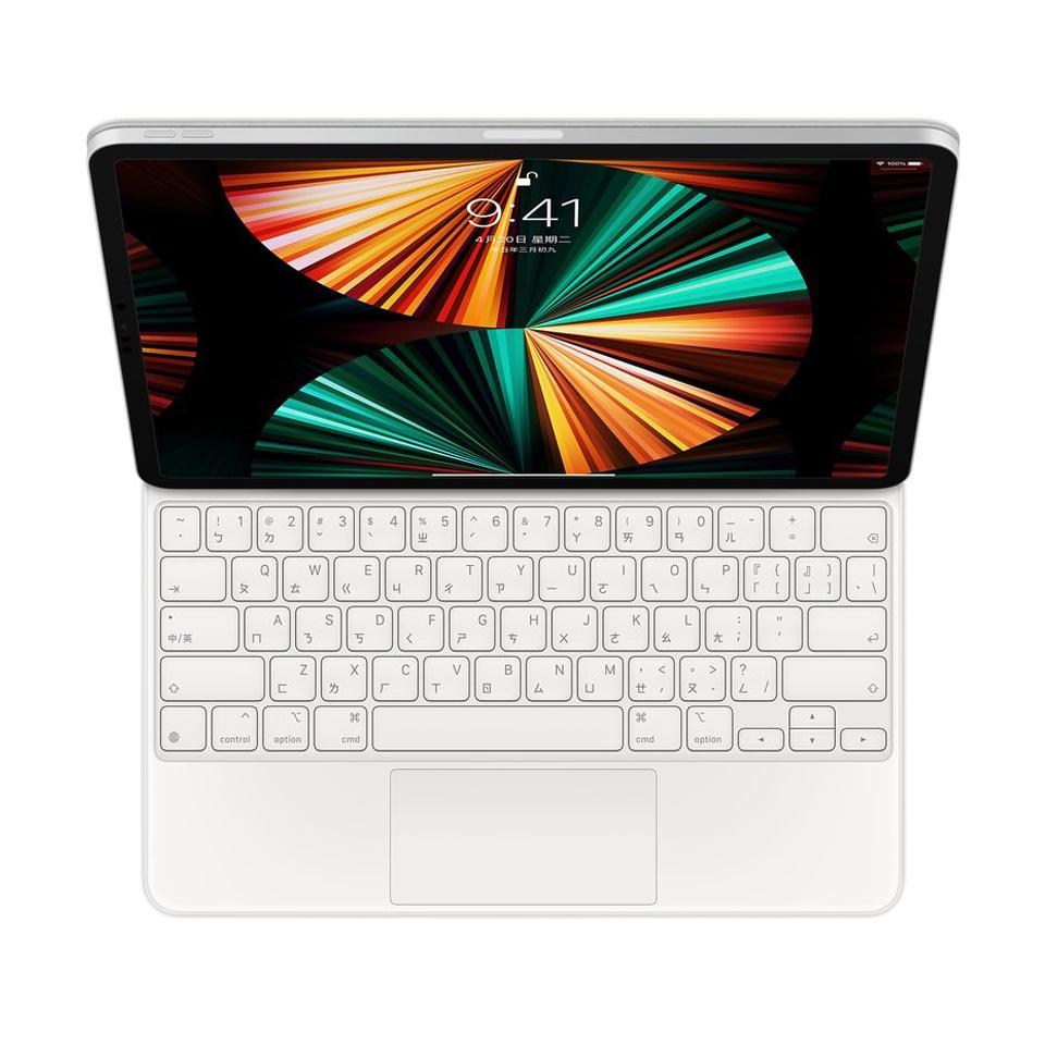 """iPad Pro 12.9"""" 巧控鍵盤-中文 白色"""