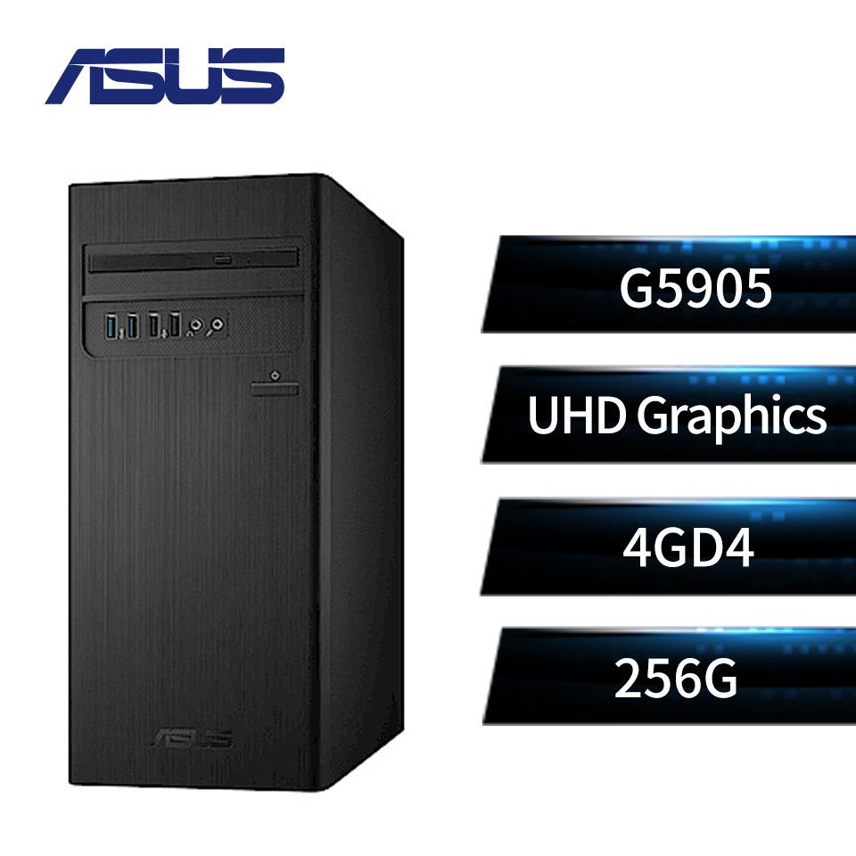 【會招組合】華碩 ASUS S300TA 桌上型電腦(G5905/4G/256GB) + VZ229H 超低藍光護眼顯示器