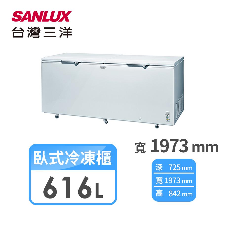 台灣三洋 616公升臥式直冷式冷凍櫃