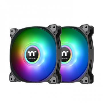 曜越Pure Duo 12 ARGB主板連動風扇(雙顆)黑