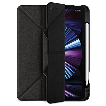 JTLEGEND iPad Pro 11吋筆槽布紋皮套-黑