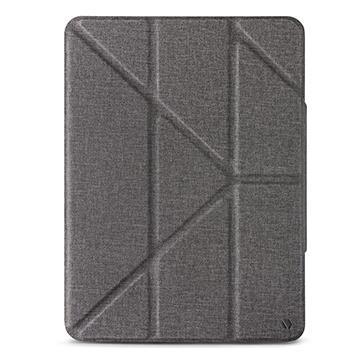 JTLEGEND iPad Pro 11吋折疊布紋皮套-灰