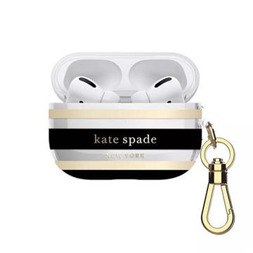 Kate Spade AirPods Pro保護套-黑金條紋