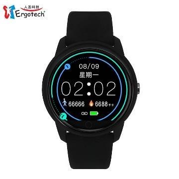 人因MWB237K全圓心率智慧監測運動手錶 黑
