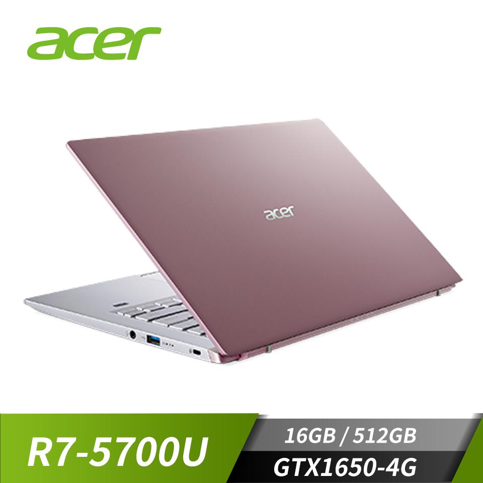 """宏碁 ACER Swift 筆記型電腦 14""""(R7-5700U/16GB/512GB/GTX 1650-4G/Win10)"""