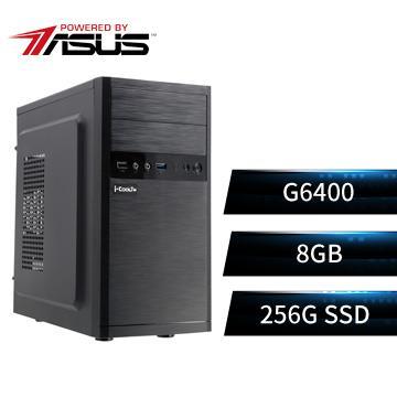 PBA華碩平台[魔幻騎兵]雙核效能SSD電腦(G6400/H510M/8G/256G)