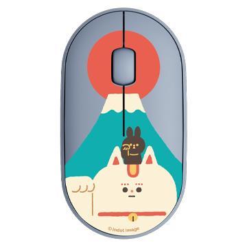 【M350*1(任選色)+插畫家上蓋*2(任選)】羅技Pebble M350設計款上蓋-富士山探險